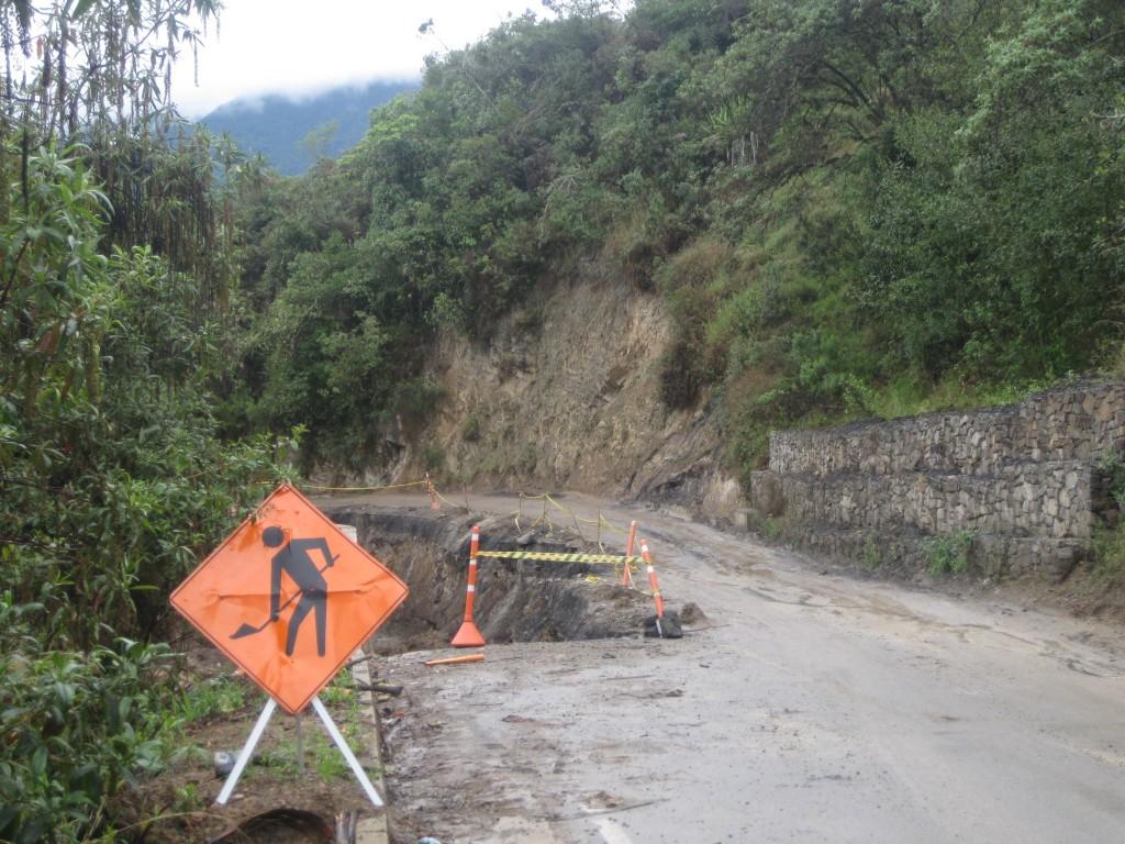Damit Deine Reisevorbereitung keine Baustelle wird. So wie hier im Bergland in Kolumbien