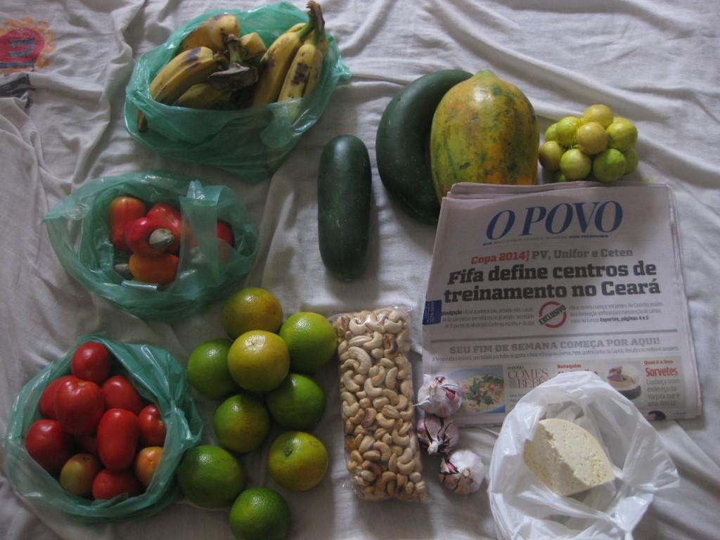 """Manchmal tut es auf Reisen gut, mal einige Wochen irgendwo zu bleiben und """"normal"""" zu leben. Mein Einkauf in Fortaleza, Nordosten Brasiliens"""