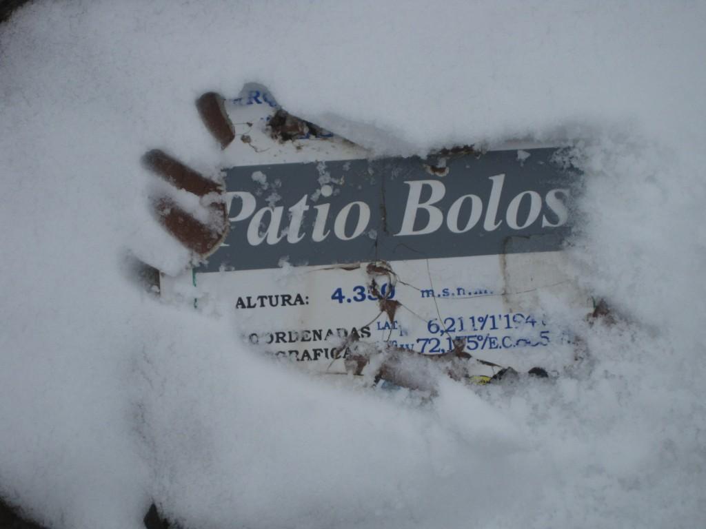 "Der Pass ""Patio Bolos"" bei Schnee"