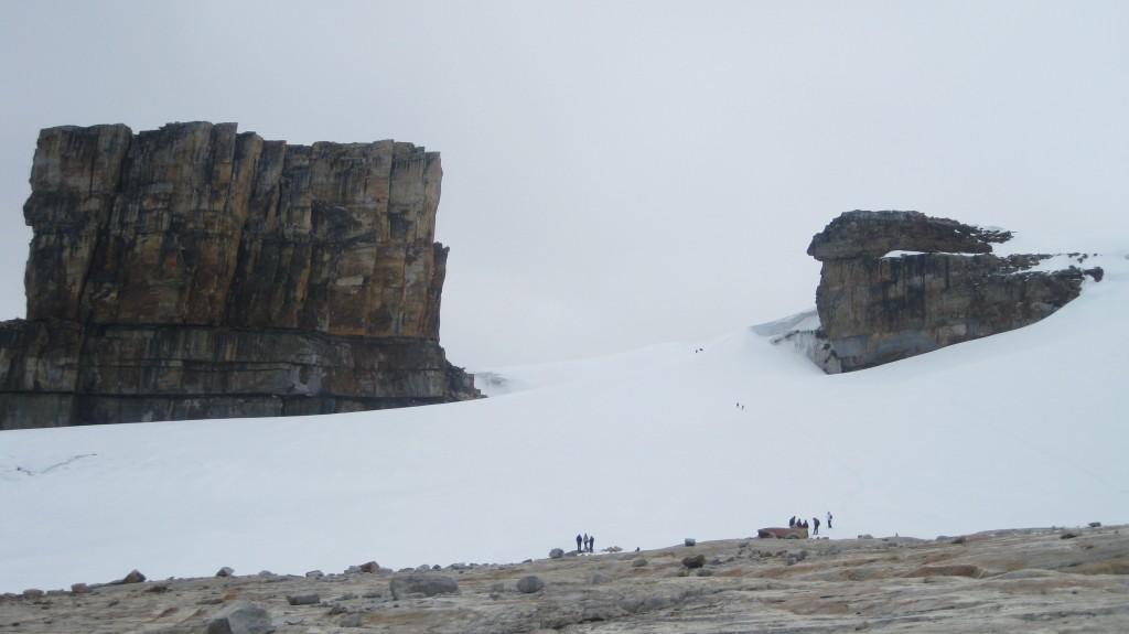 An der Schneegrenze unterhalb des Pan de Azúcar