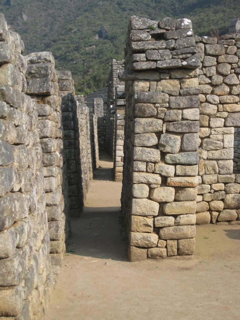 Irgendwo mitten im Zentrum von Machu Picchu