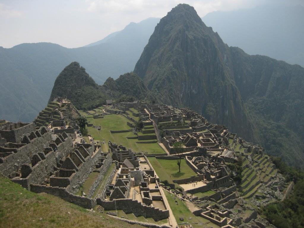 Machu Picchu in Peru aus der Postkartenmotiv-Perspektive