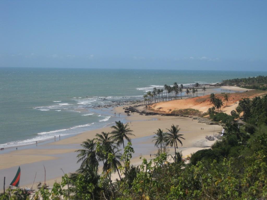 Der schöne Sandstrand Lagoinha nordwestlich von Fortaleza