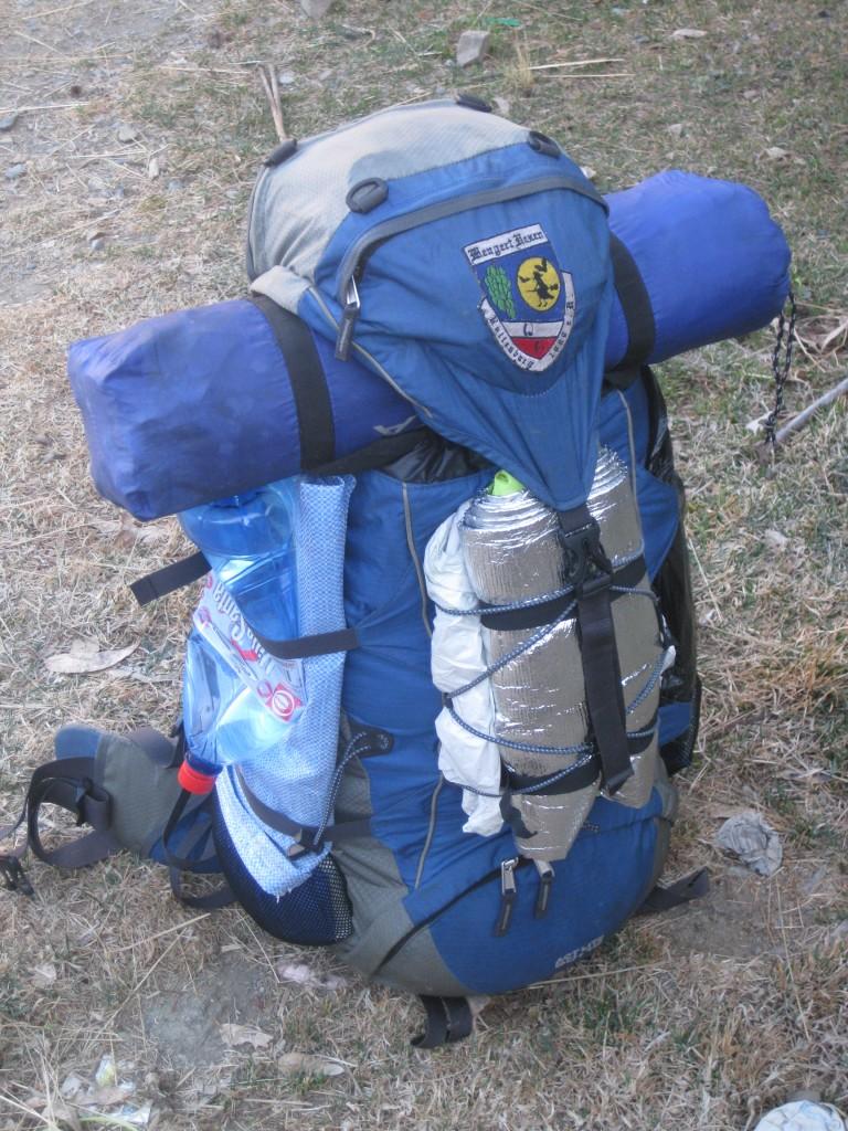 Optimiert: Gut gepackter Rucksack, Takesi-Trek, Bolivien