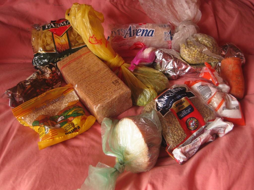 Übriggebliebener Proviant nach sieben Tagen im Nationalpark Torres del Paine