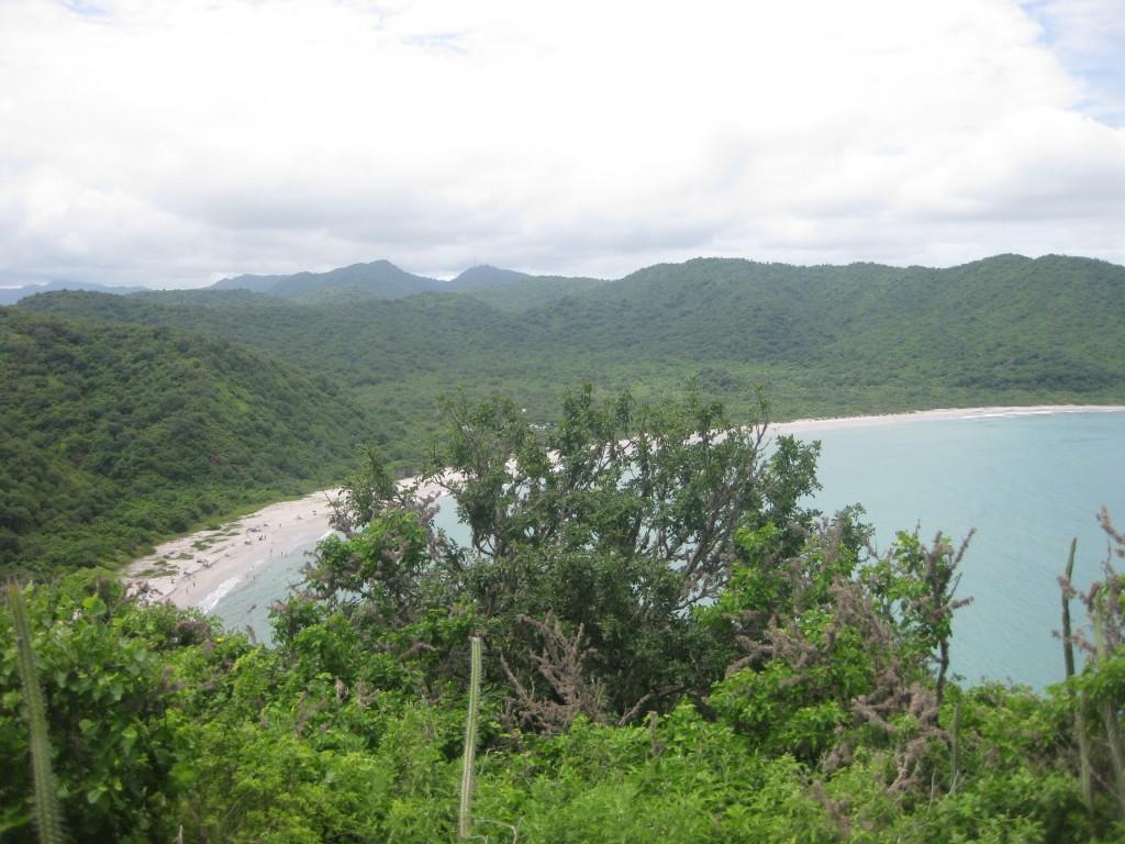 Blick auf den Strand Playa de los Frailes