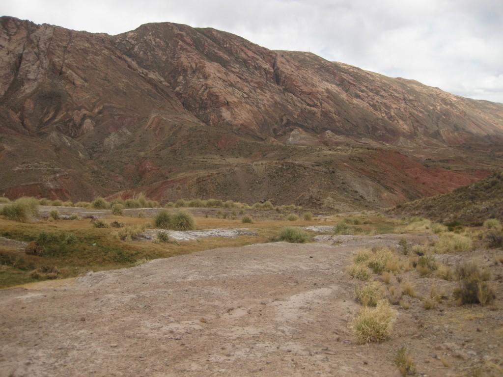 Die Landschaft beim Ojo del Inca