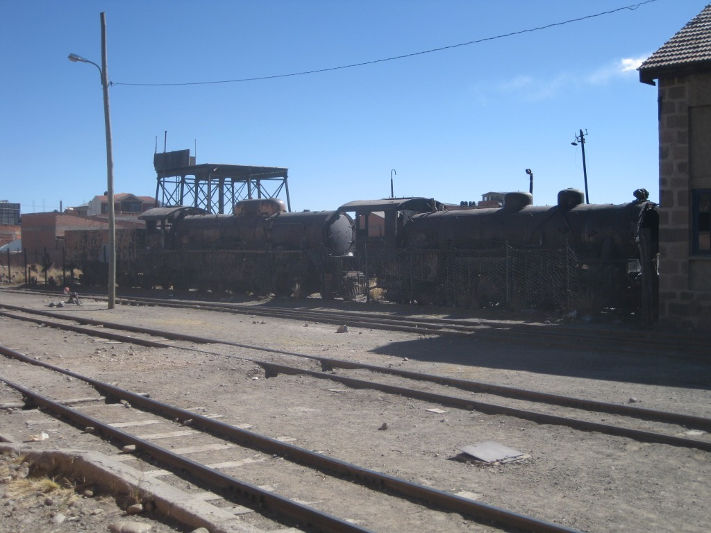 Eisenbahnfriedhof, am Bahnhof in Potosí
