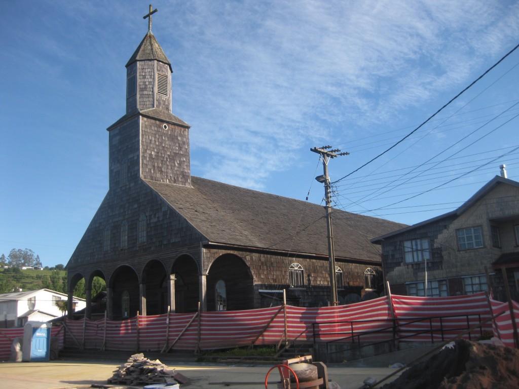 Die älteste Holzkirche der Insel Chiloé in Achao