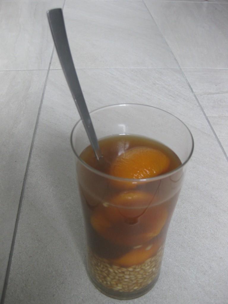 Meine nachgekochte Version des Mote con Huesillos