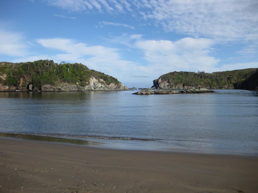An der Lagune bei Duhatao, Blick Richtung Meer