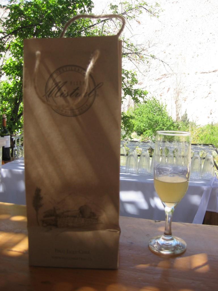 Der Pisco Sour nach der Führung durch die Destillerie auf der schönen Terrasse, Destellerie Mistral in Pisco Elqui