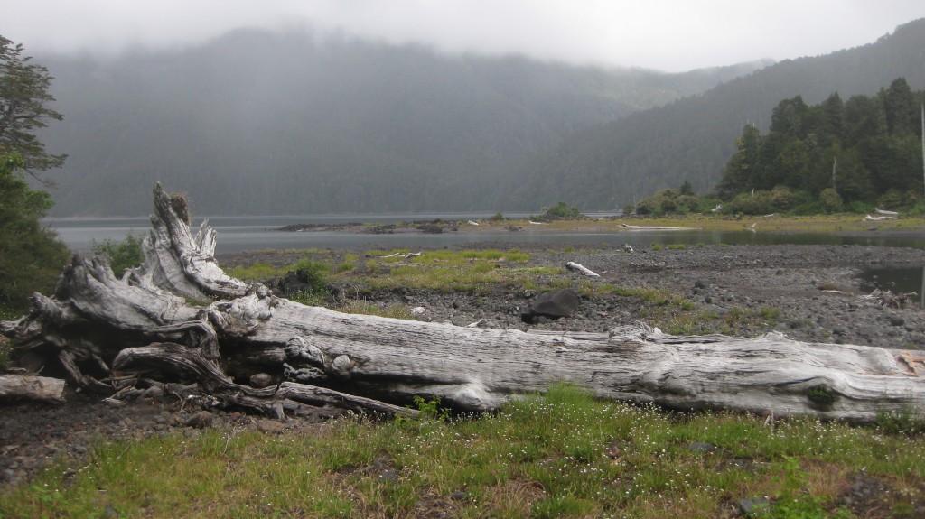 Campen an einem See im Nationalpark Hornopirén