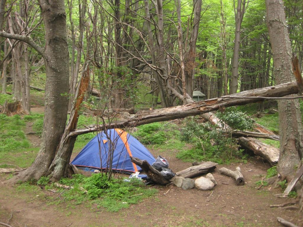 Zelten im Nationalpark Torres del Paine, hier am Campingplatz Los Guardas