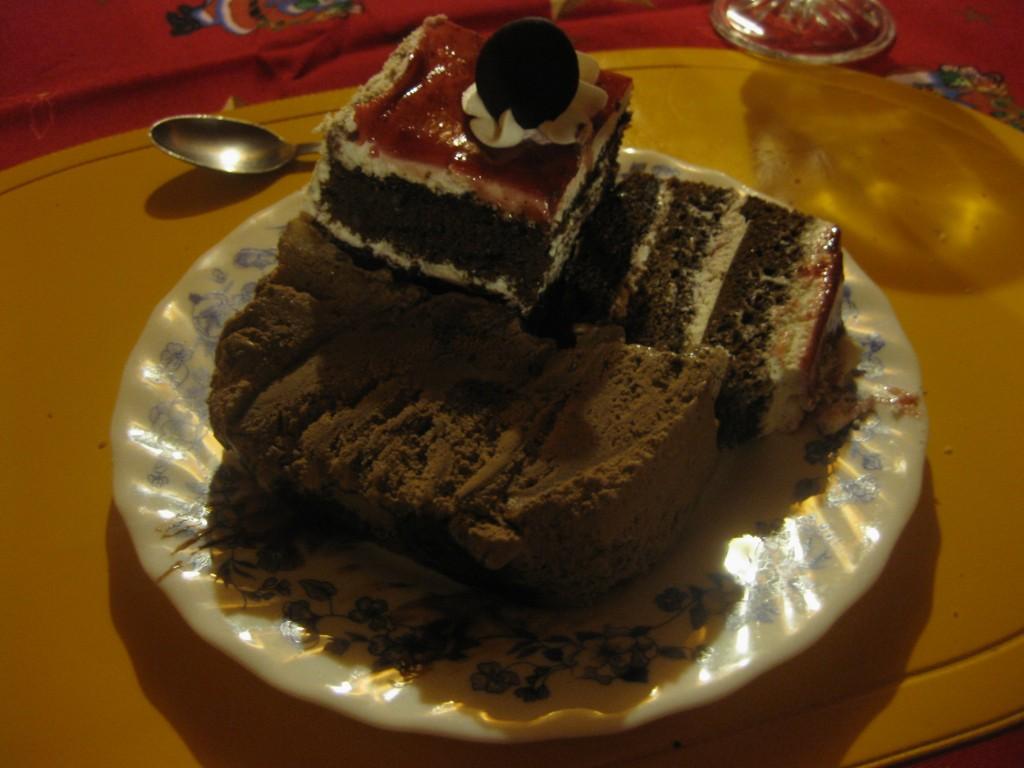 Der fette Nachtisch krönt das üppige chilenische Weihnachtsessen
