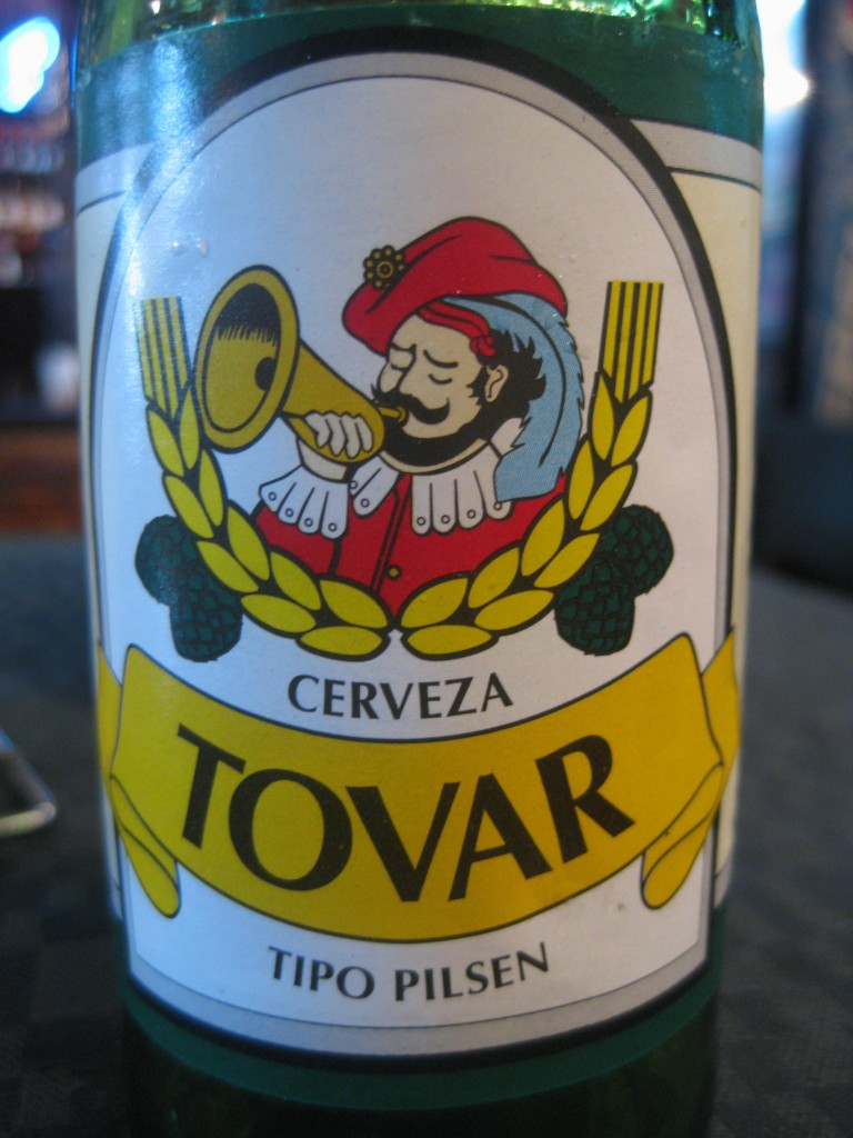 Das Bier der Colonia Tovar. Cerveza Tovar, Tipo Pilsen.