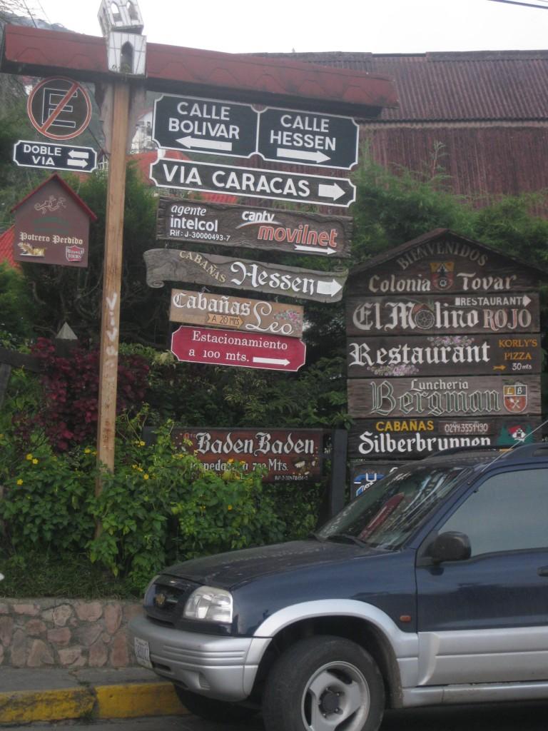 Deutsche Straßennamen mitten in Venezuela, Südamerika