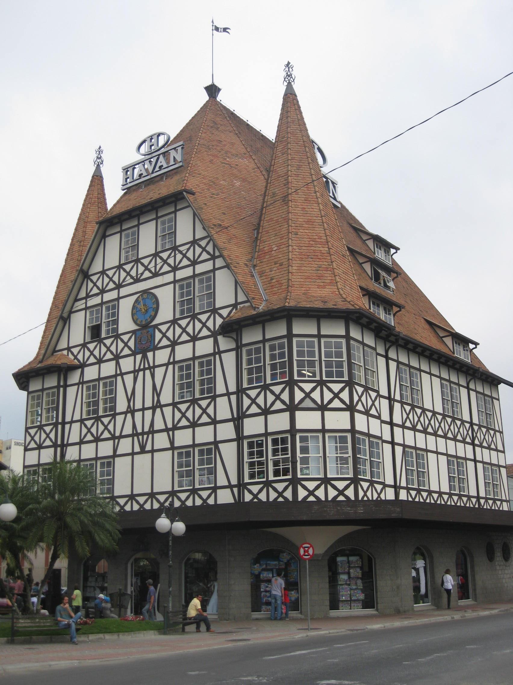 Fachwerkhaus architektur deutsche kolonie blumenau brasilien s damerika individuell - Deutsche architektur ...