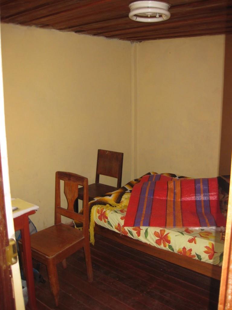 Übernachten in einer einfachen Unterkunft (Hospedaje) in Chachapoyas, Norden von Peru