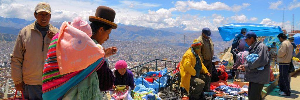 Markt in El Alto, oberhalb der Stadt La Paz gelegen. Laut Flo der zweitgrößte Markt der Welt. © flocblog